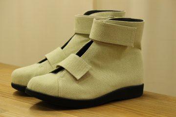 帆布で作る靴